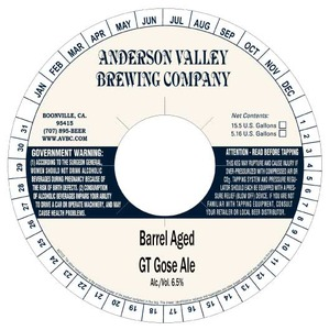 Anderson Valley Brewing Company Barrel Aged Gt Gose
