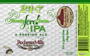 Rochester Mills Beer Co. Twenty Fore! Seven IPA