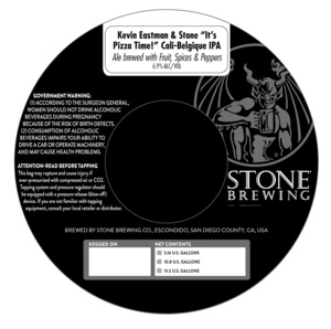 Stone Brewing It's Pizza Time