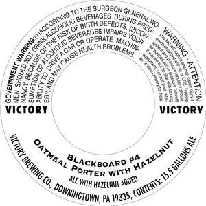 Victory Blackboard Oatmeal Porter With Hazelnut