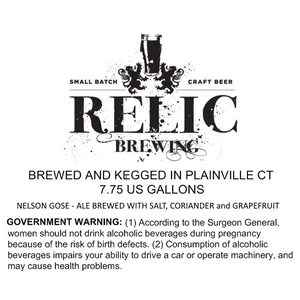 Relic Brewing Nelson Gose