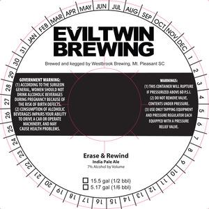 Evil Twin Brewing Erase & Rewind