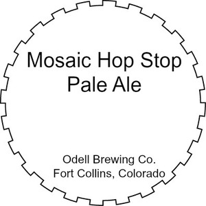 Odell Brewing Company Mosaic Hop Stop Pale Ale