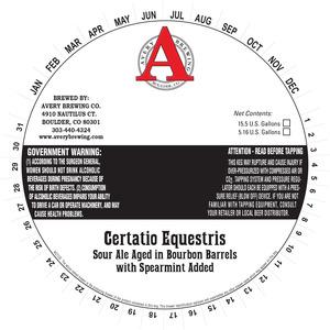 Avery Brewing Co. Certatio Equestris