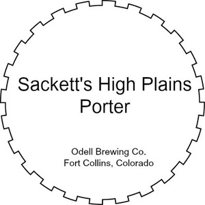 Odell Brewing Company Sackett's High Plains Porter