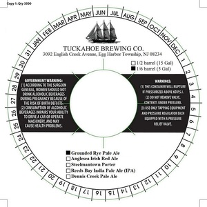 Tuckahoe Brewing Company Grounded Rye Pale Ale