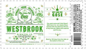 Westbrook Brewing Company Key Lime Pie Gose
