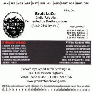 Grand Teton Brewing Brett Loco