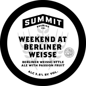 Summit Brewing Company Weekend At Berliner Weisse