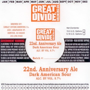 Great Divide Brewing Company 22nd Anniversary
