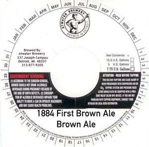 Atwater Brewery 1884 First Brown Ale
