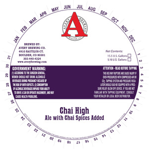 Avery Brewing Co. Chai High