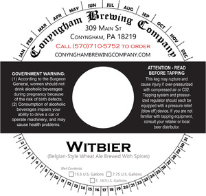 Conyngham Brewing Company Witbier