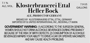 Klosterbrauerei Ettal Heller Bock