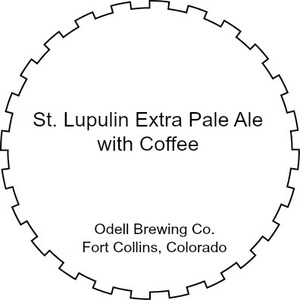 Odell Brewing Company St. Lupulin Extra Pale Ale With Coffee