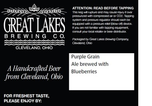 The Great Lakes Brewing Co. Purple Grain