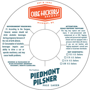 Olde Hickory Brewery Piémont Pilsner