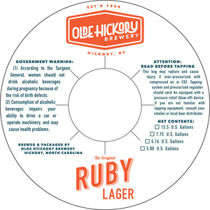 Olde Hickory Brewery Ruby Lager