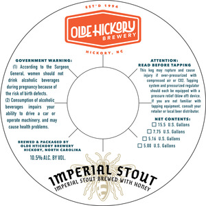 Olde Hickory Brewery Imperial Stout