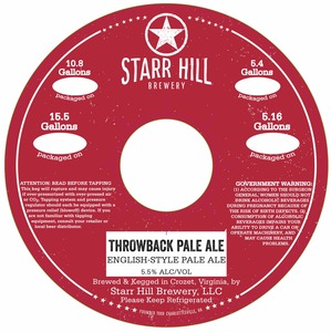 Starr Hill Throwback Pale Ale