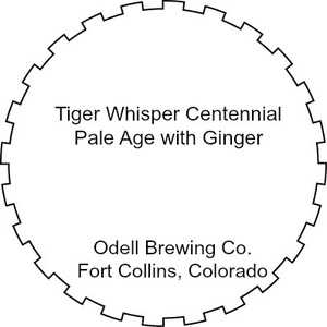 Odell Brewing Company Tiger Whisper Ale With Ginger