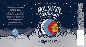 Odell Brewing Company Mountain Standard Black IPA