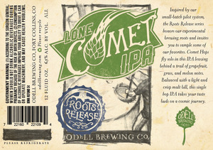 Odell Brewing Company Lone Comet IPA May 2016