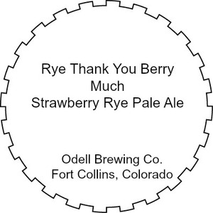 Odell Brewing Company Rye Thank You Berry Much