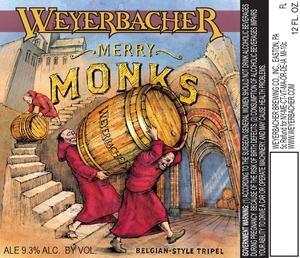 Weyerbacher Merry Monks Belgian Style Tripel