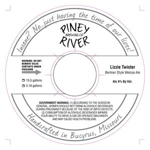 Piney River Brewing Co. LLC Lizzie Twister