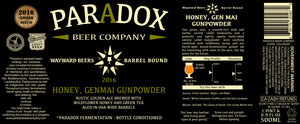 Paradox Beer Company Honey, Genmai Gunpowder