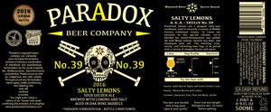 Paradox Beer Company Salty Lemons