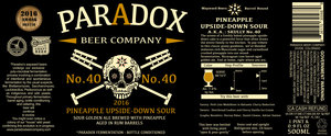Paradox Beer Company Pineapple Upside-down Sour