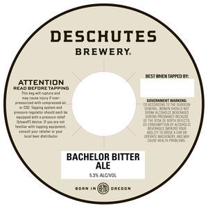 Deschutes Brewery Bachelor Bitter