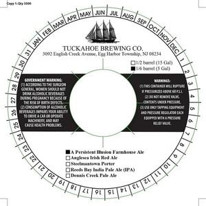 Tuckahoe Brewing Company A Persistent Illusion Farmhouse Ale