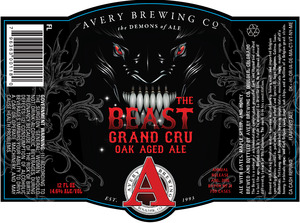 Avery Brewing Company The Beast Grand Cru Oak Aged