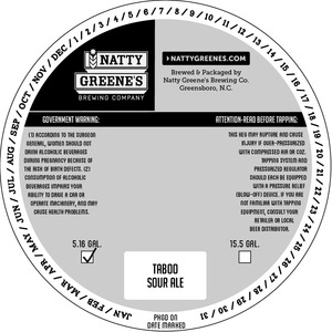 Natty Greene's Brewing Co. Taboo Sour Ale