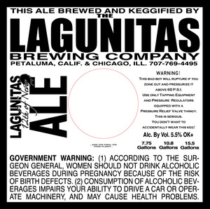 The Lagunitas Brewing Company Lagunitas 12th Of Never May 2016