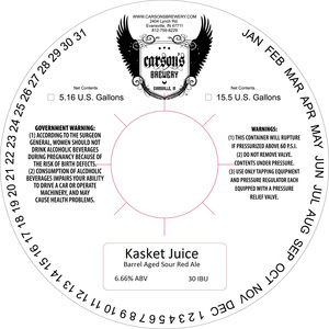 Carson's Brewery Kasket Juice