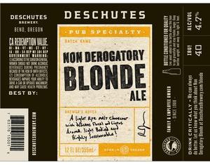 Deschutes Brewery Non-derogatory