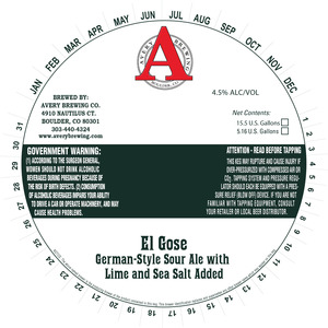 Avery Brewing Co. El Gose German-style Sour