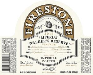 Firestone Walker Brewing Company Imperial Walker's Reserve