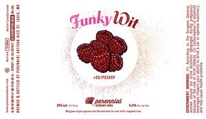 Perennial Artisan Ales Funky Wit +raspberry