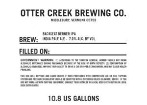 Otter Creek Brewing Co. Backseat Berner IPA