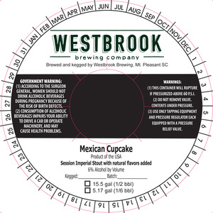 Westbrook Brewing Company Mexican Cupcake