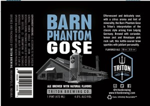 Triton Brewing Barn Phantom Gose