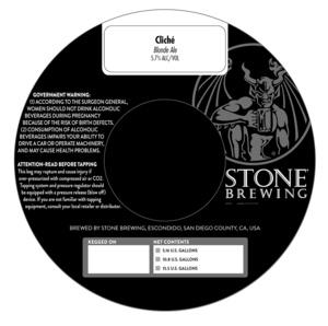Stone Brewing Cliche Blonde Ale