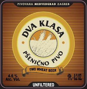 Pivovara Medvedgrad Dva Klasa - Two Wheat Beer