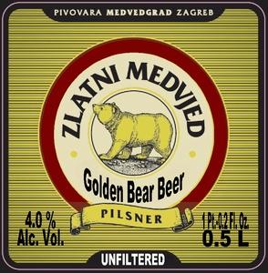Pivovara Medvedgrad Zlatni Medo - Golden Bear