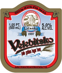 Velebitsko Pale Golden Lager Beer